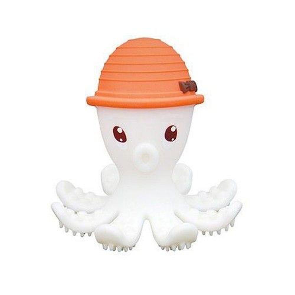 英國 mombella - 樂咬咬章魚固齒器-橘色