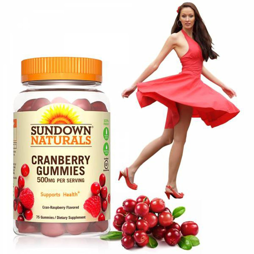 美國Sundown日落恩賜 - 50倍濃縮蔓越莓軟糖-75粒
