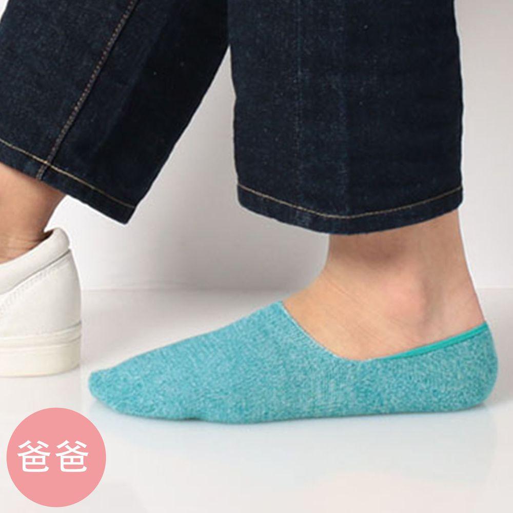 日本 okamoto - 超強專利防滑ㄈ型隱形襪(爸爸)-吸水速乾-薄荷綠 (25-27cm)-棉混
