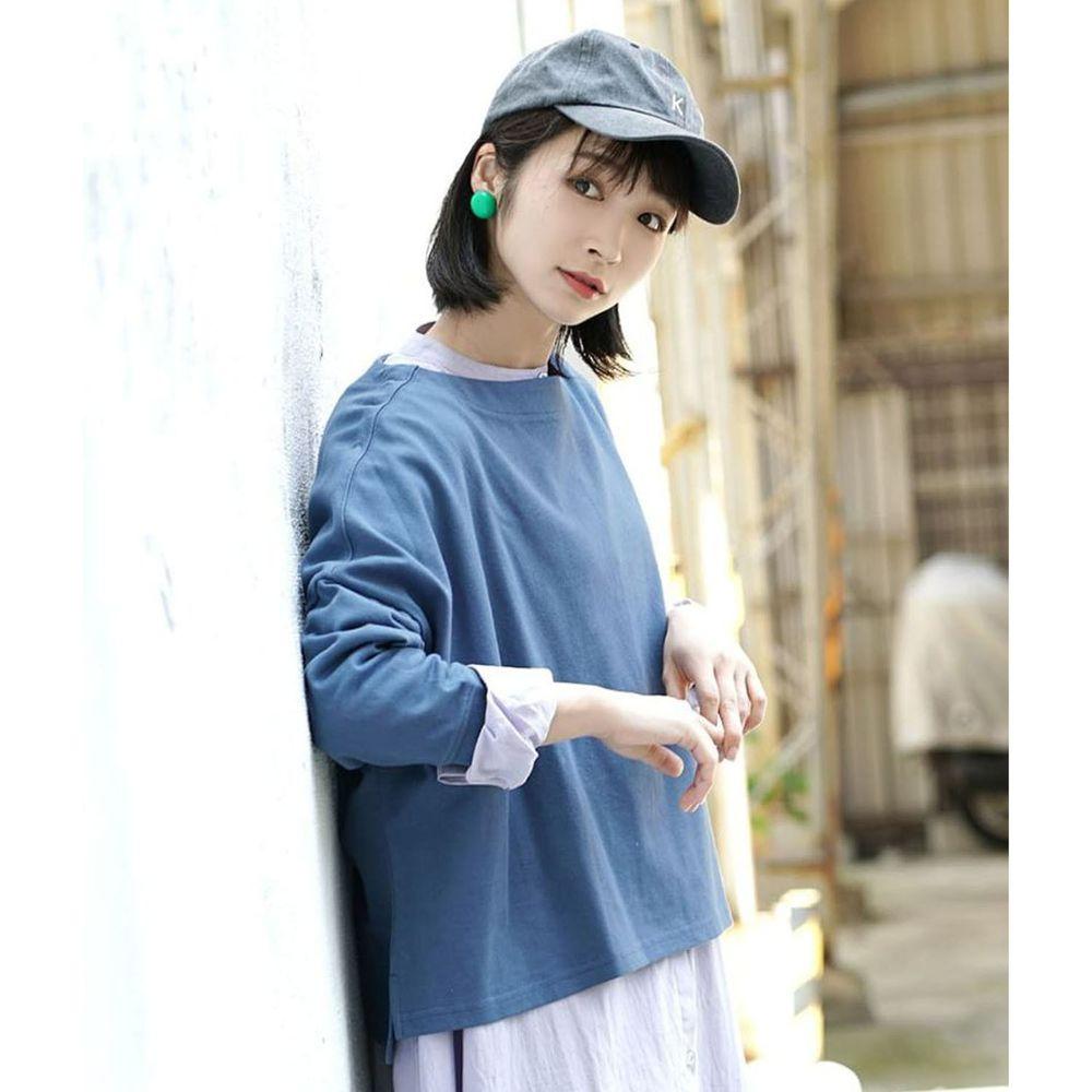 日本 zootie - [撥水/撥油加工] 抗油污耐洗純棉長袖上衣-藍