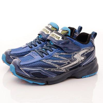 競速機能童鞋-閃電3E寬楦撞色款(中大童)-藍黑