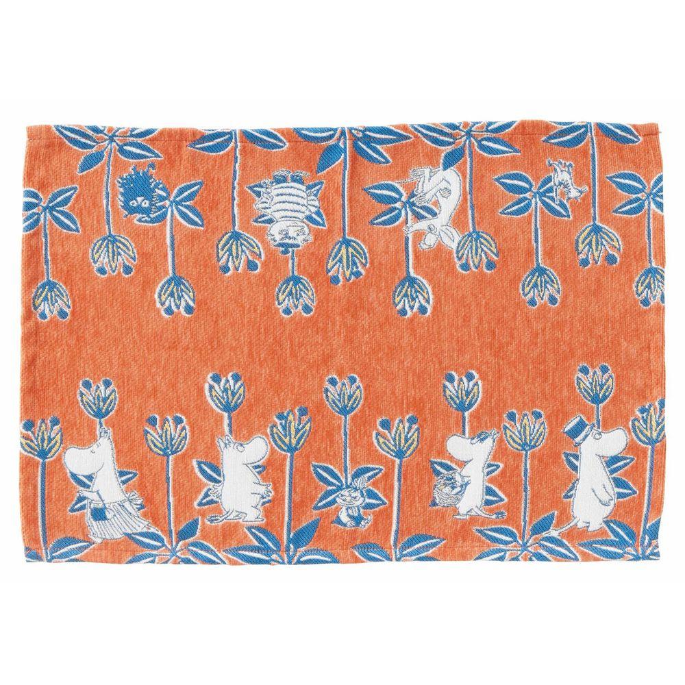日本千趣會 - 嚕嚕米 編織感餐墊-橘色花園 (33x48cm)
