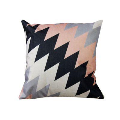 品味英倫棉麻抱枕-U88優雅菱格 (44x44cm)-枕套*1+枕心*1