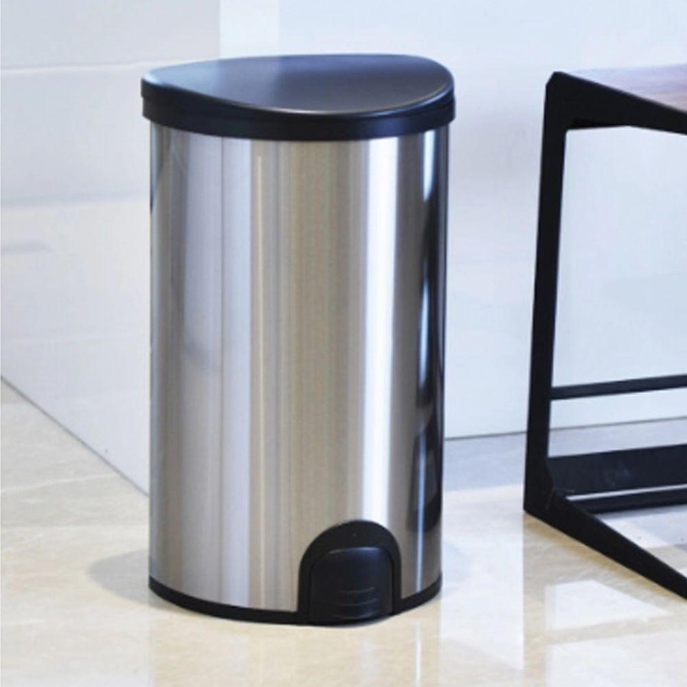 家窩 - 諾曼腳觸感應不鏽鋼垃圾桶50L-50L