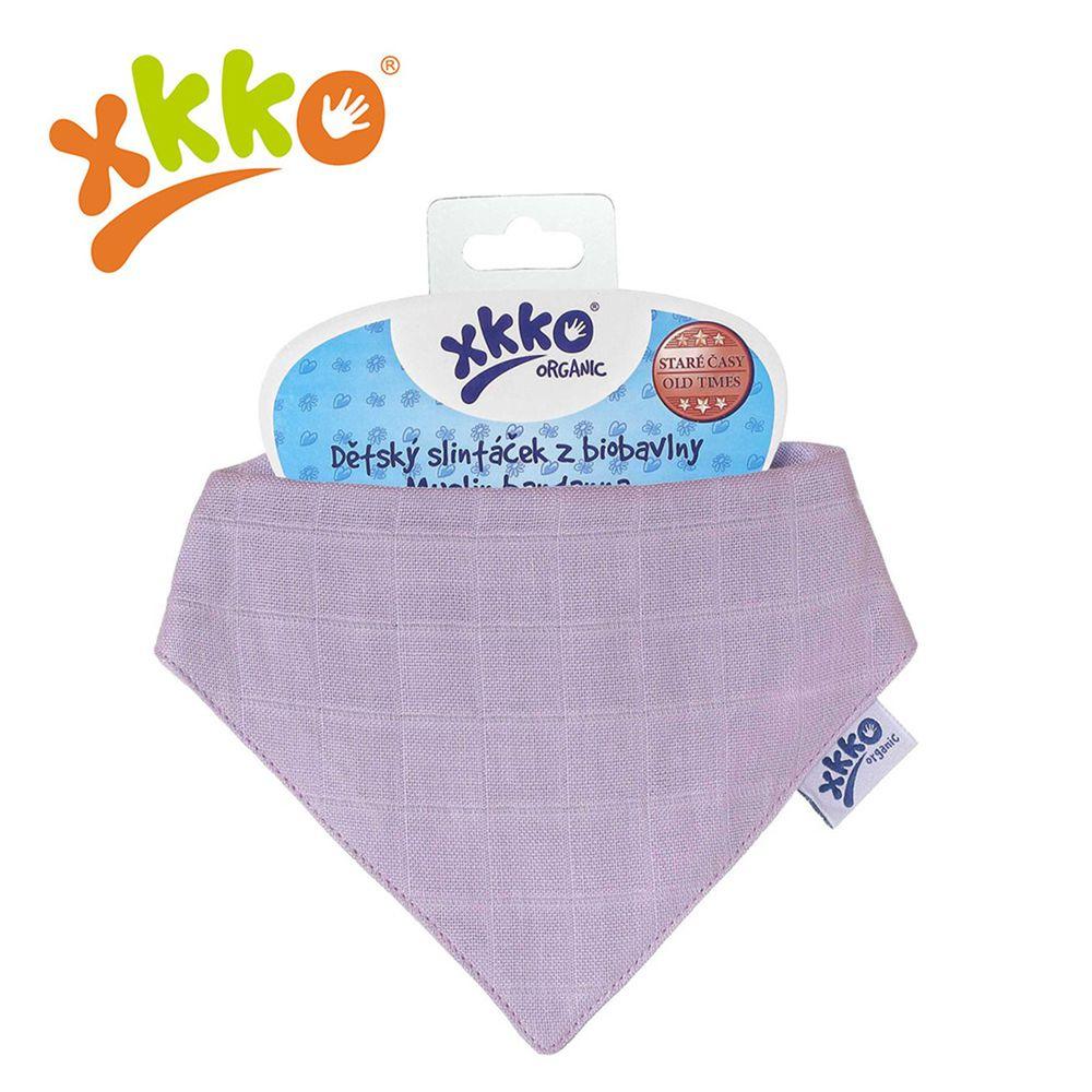 XKKO - 有機棉紗布口水巾-粉紫色