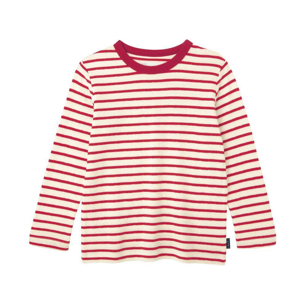 日本千趣會 - GITA 純棉輕薄舒適長T-橫條紋-紅