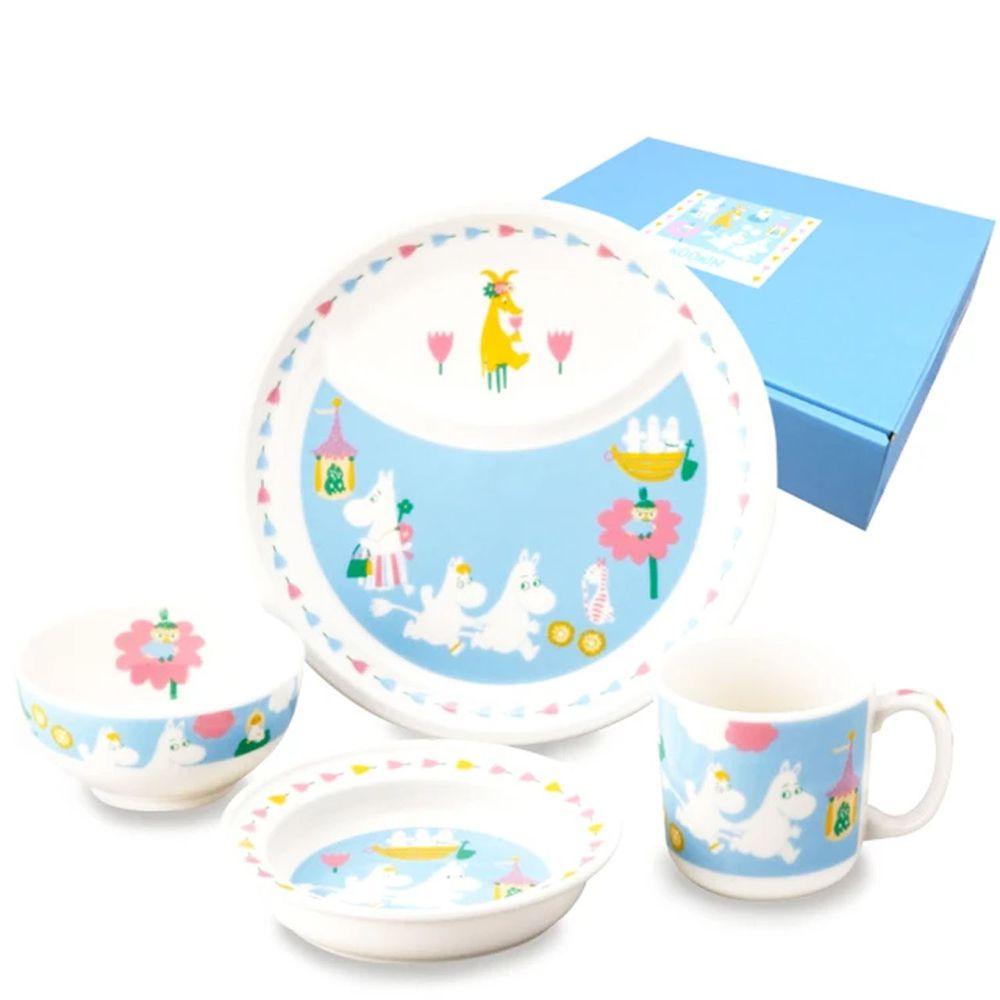 日本山加 yamaka - moomin 嚕嚕米彩繪陶瓷兒童餐具-MM1200-113-4入組