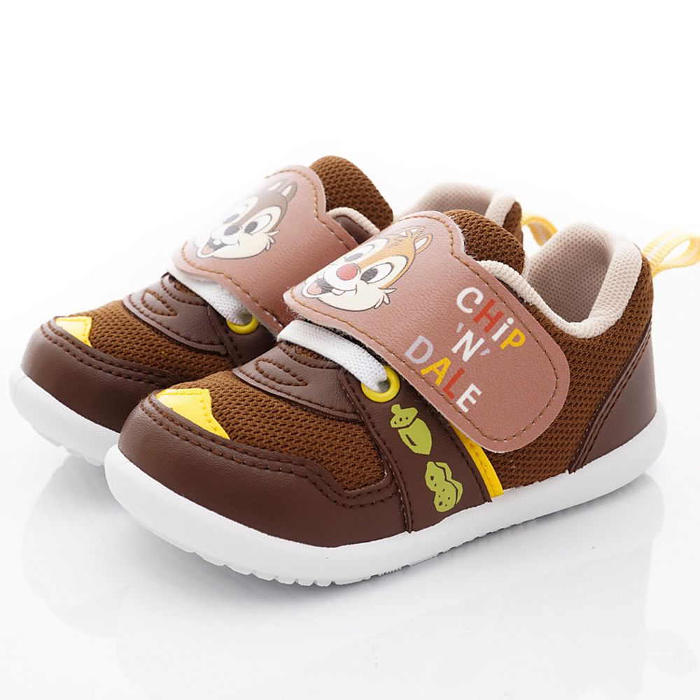 Disney - 奇奇蒂蒂輕量運動鞋(小童段)-咖啡