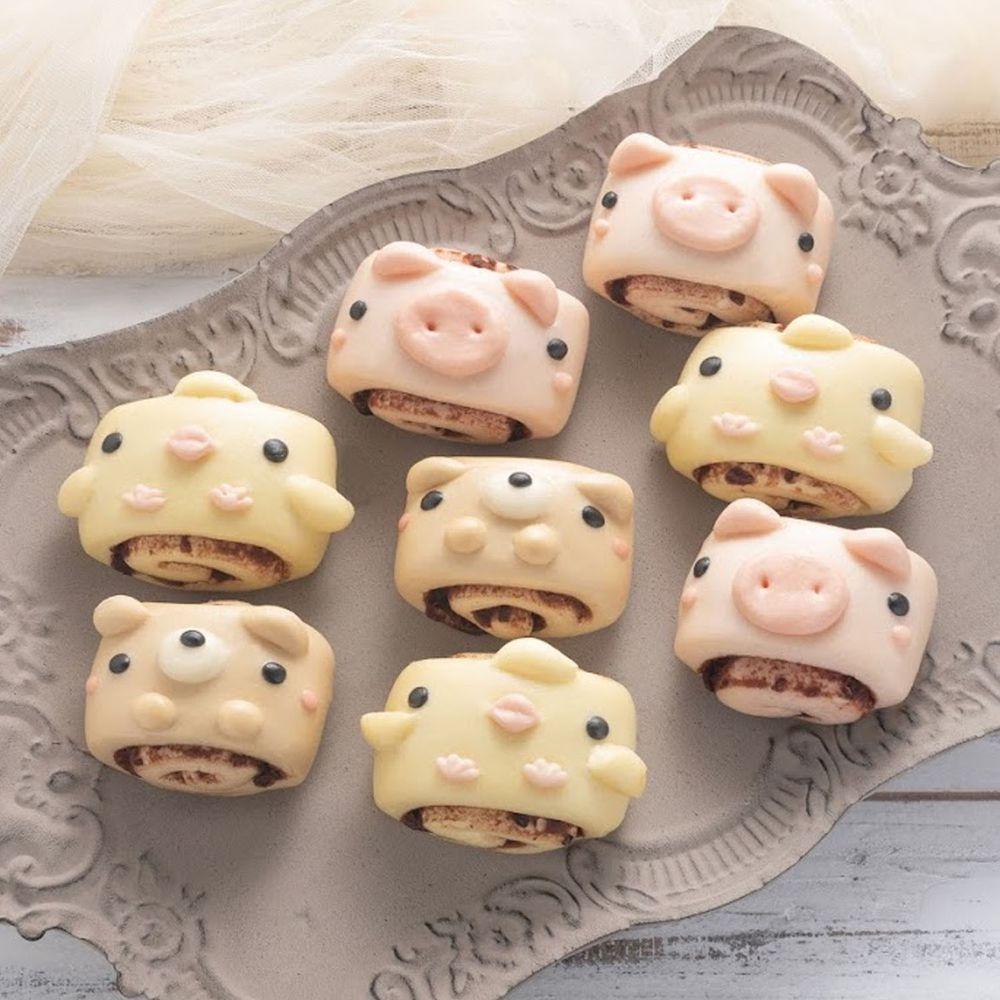 老甜媽手工饅頭 - 可愛動物甜蜜蜜紅豆捲8入