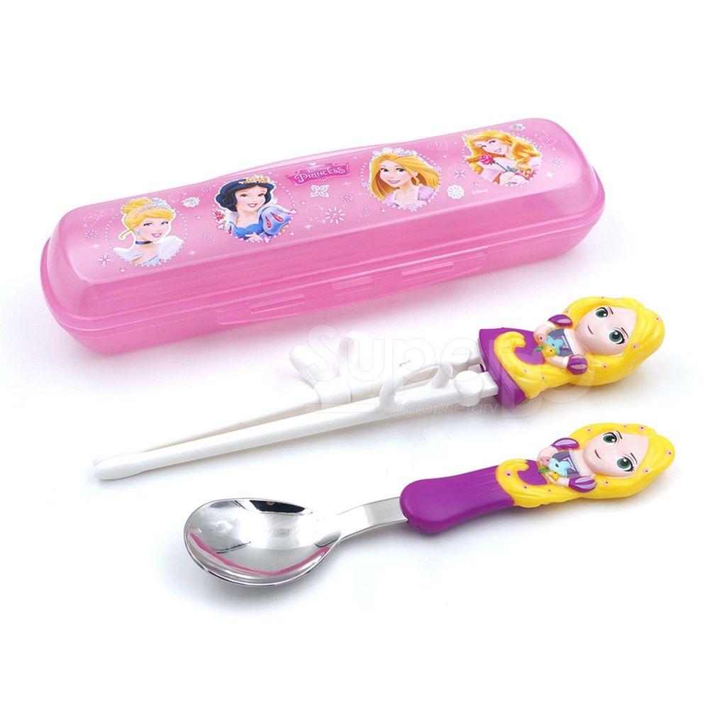 Disney - 3D學習筷湯匙組-長髮公主(附盒)