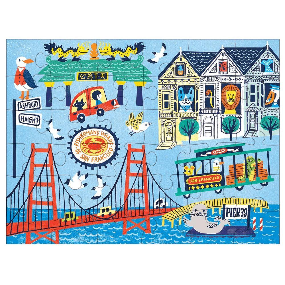 美國 mudpuppy - 美國 mudpuppy-隨身拼圖-舊金山-36片-舊金山-團購專案