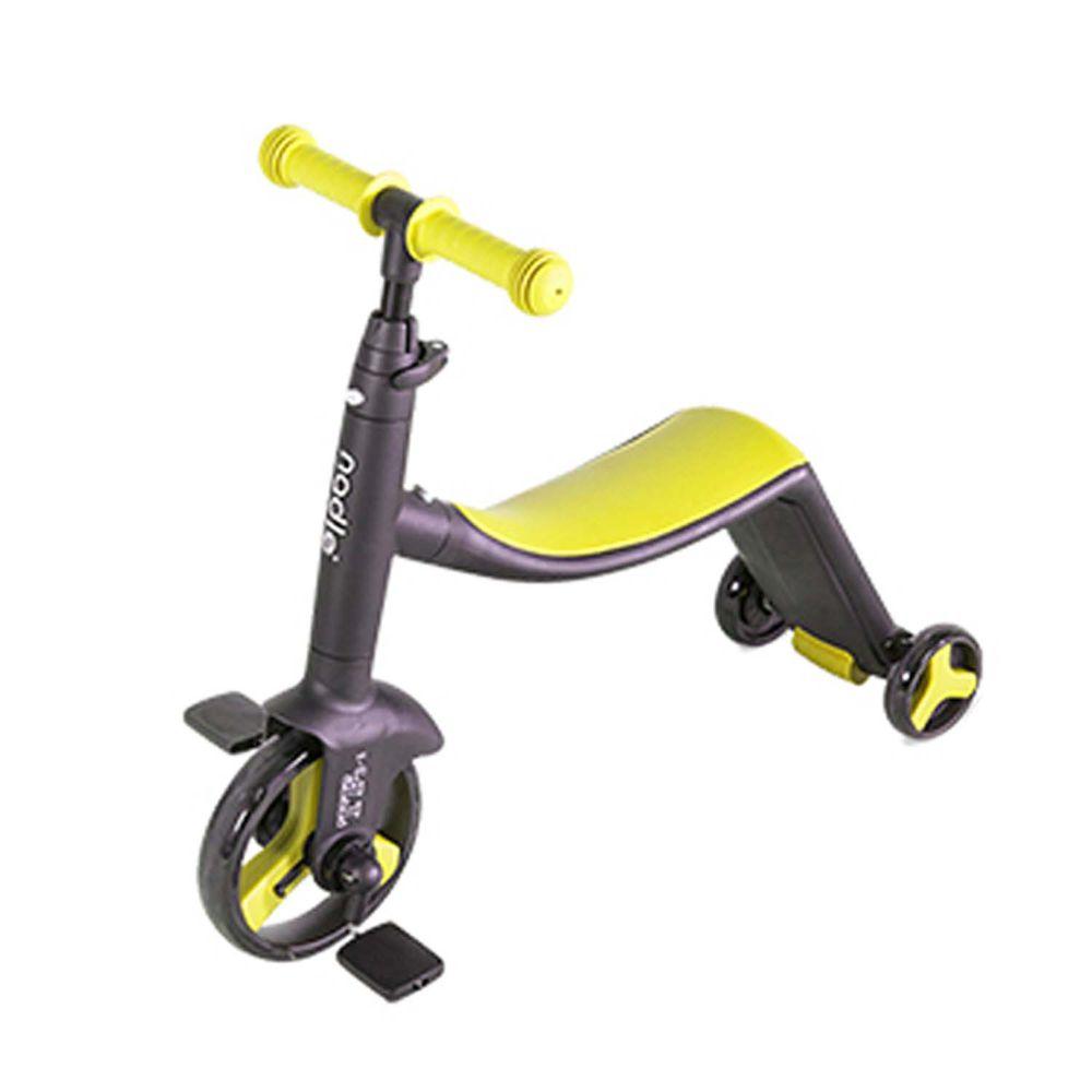 奧地利Nadle - 三合一多功能三輪滑步/板車-黃色
