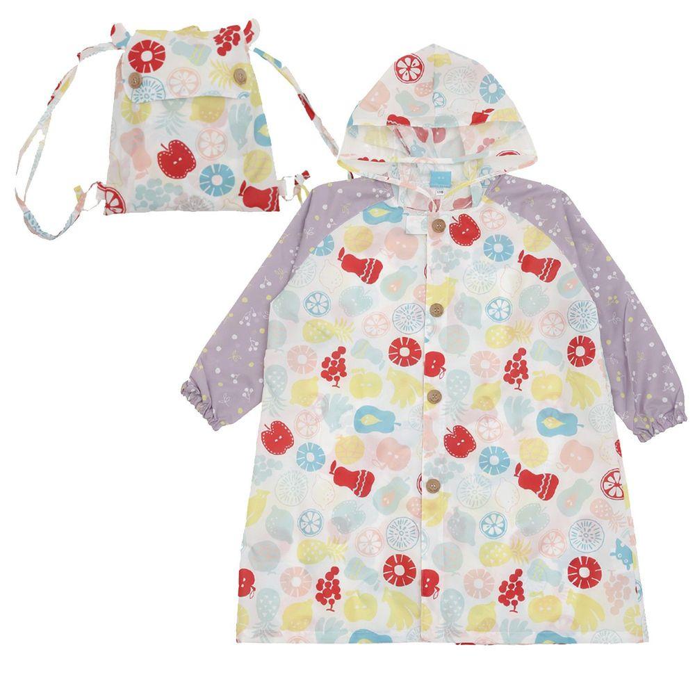 日本 kukka hippo - 小童雨衣(附收納袋)-水果世界