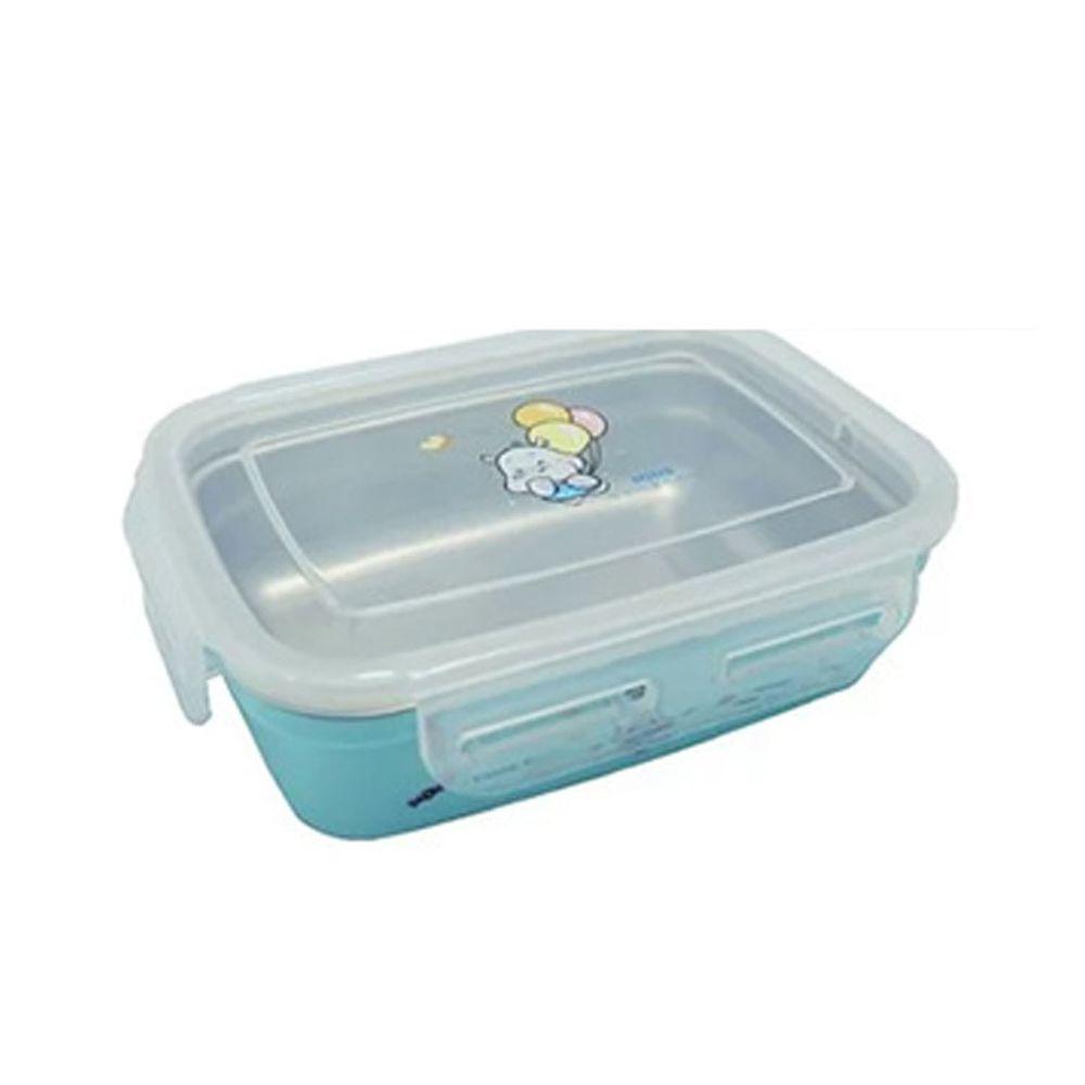 MINE唐榮 - 抗菌嬰幼兒方形餐盒-藍色