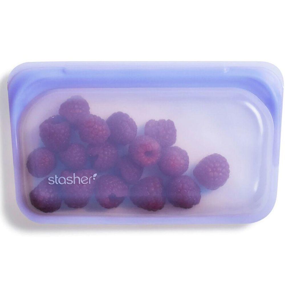 Stasher - 食品級白金矽膠密封食物袋-Snack長型-紫外光 (293ml)