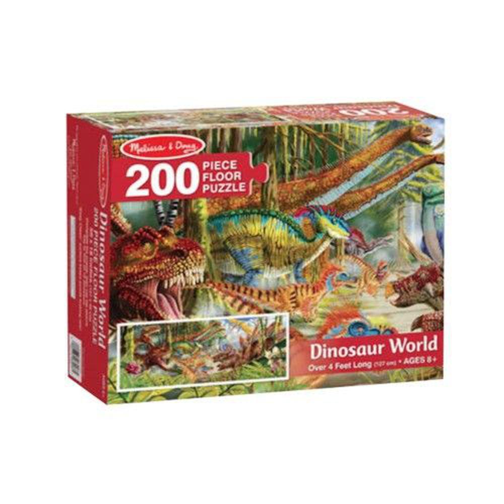 美國瑪莉莎 - MD 地板拼圖-恐龍世界-200片