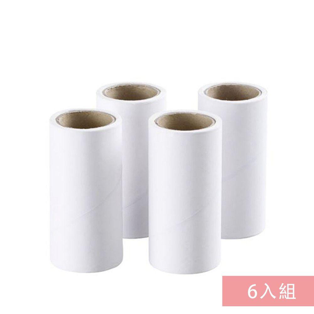 毛絮黏把清潔滾輪專用替換補充紙-單捲60片-6入組