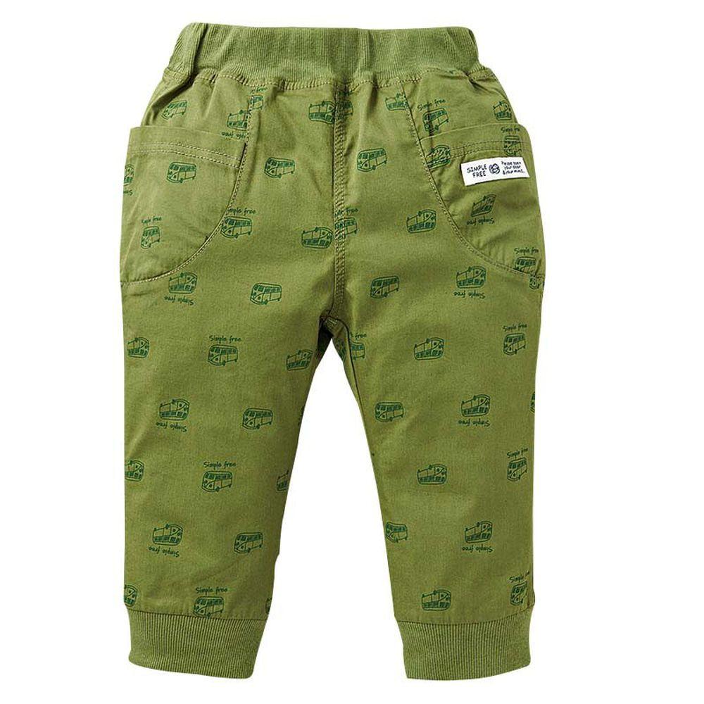 akachan honpo - 男7分馬褲-橄欖綠色