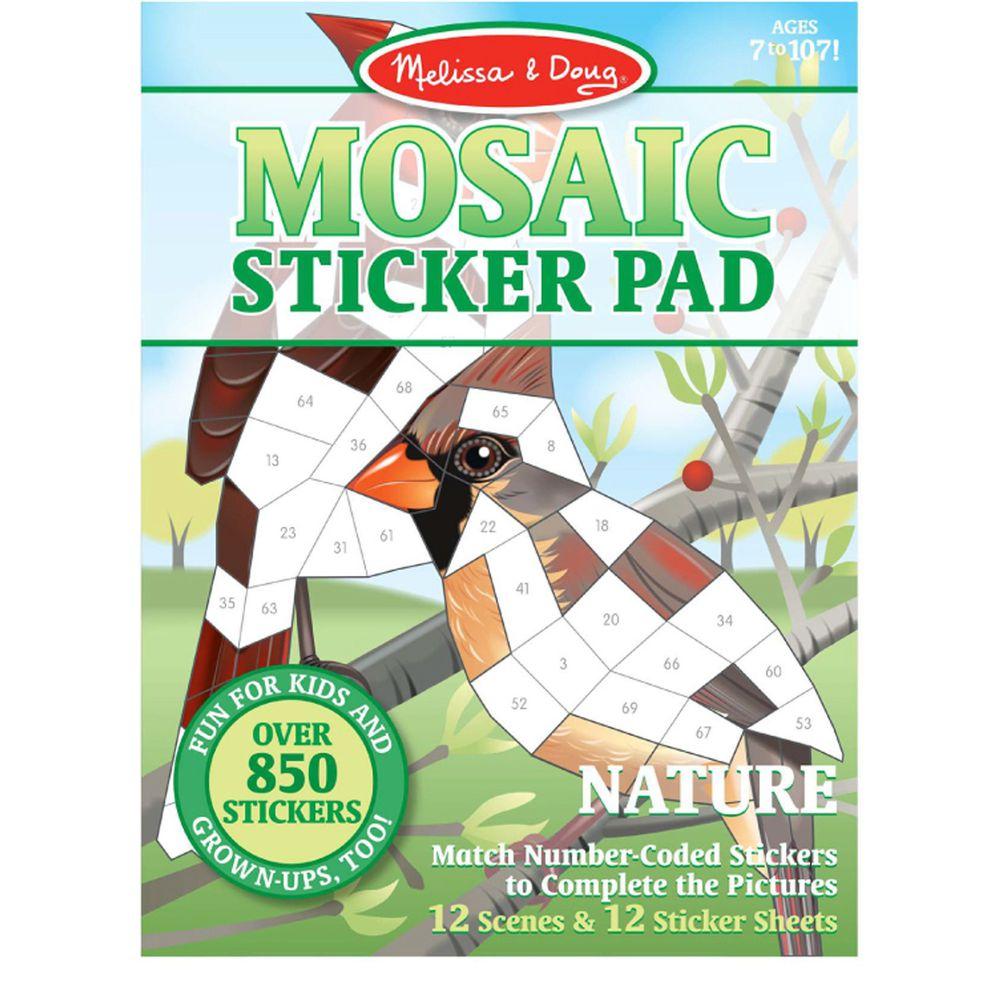 美國瑪莉莎 - MD貼紙簿-數字馬賽克貼-叢林動物