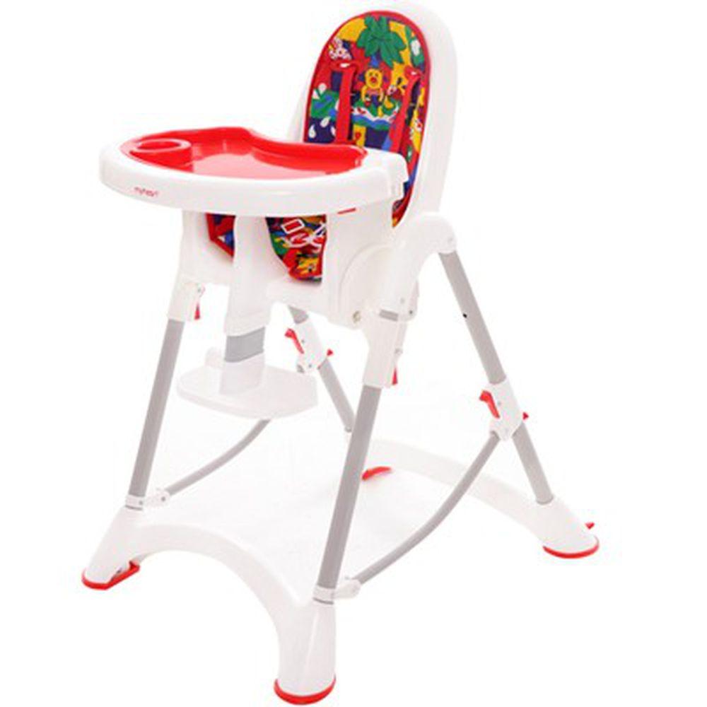 myheart - 折疊式安全兒童餐椅-卡通紅