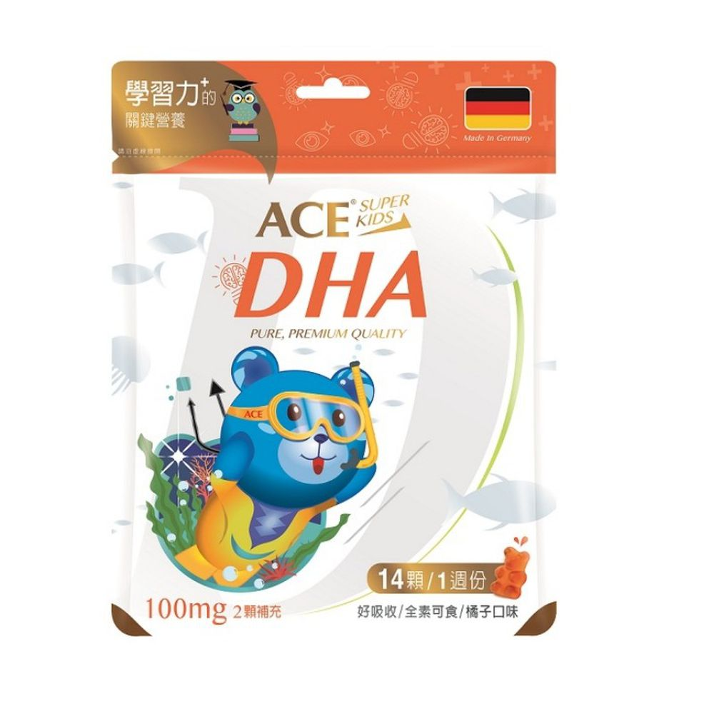 ACE - ACE SUPER KIDS DHA軟糖(14顆/袋)-42公克/袋