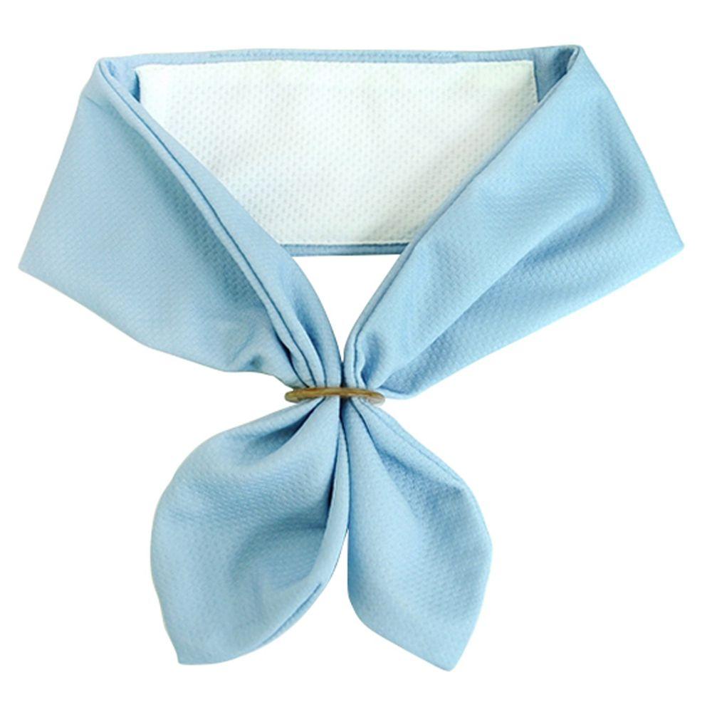 日本 DAIKAI - 抗UV接觸冷感 水涼感領巾(可放保冷劑)-純色-水藍 (70x8cm)