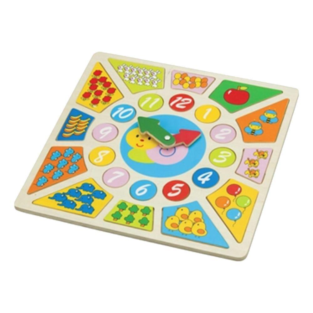 荷蘭 New Classic Toys - 寶寶認知學習時鐘拼圖