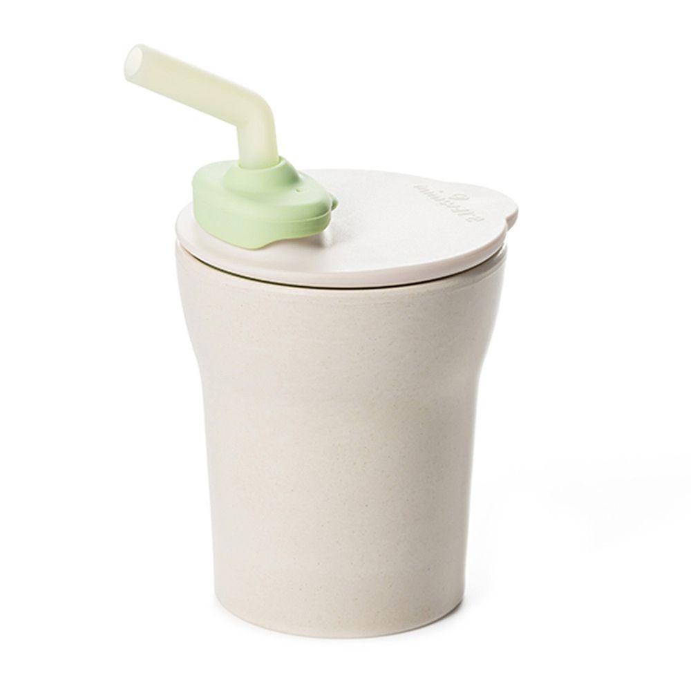美國Miniware - 微兒天然寶貝用品系列-愛喝水水杯組-甜檸檬綠-竹纖維水杯組-甜檸檬綠*1