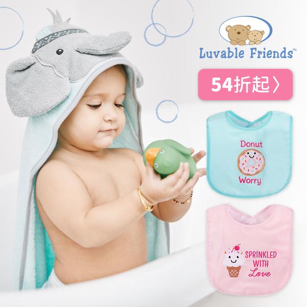 美國 Luvable Friends 動物連帽浴巾、毯子、圍兜