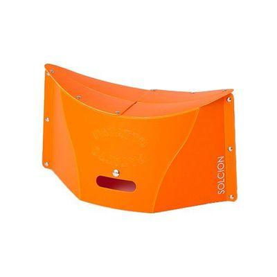 一公分超薄折疊椅-橘色 (M)