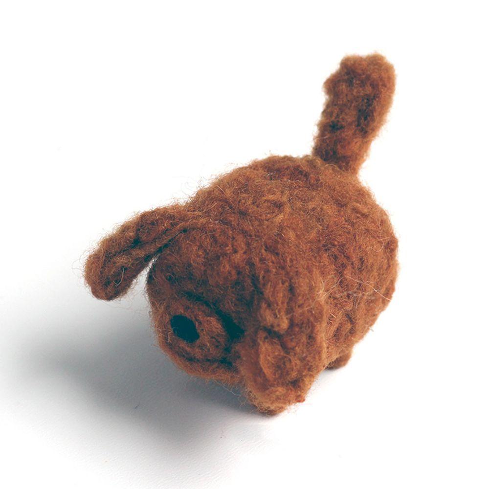 Diy寵物造型羊毛氈戳戳樂材料包-泰迪犬