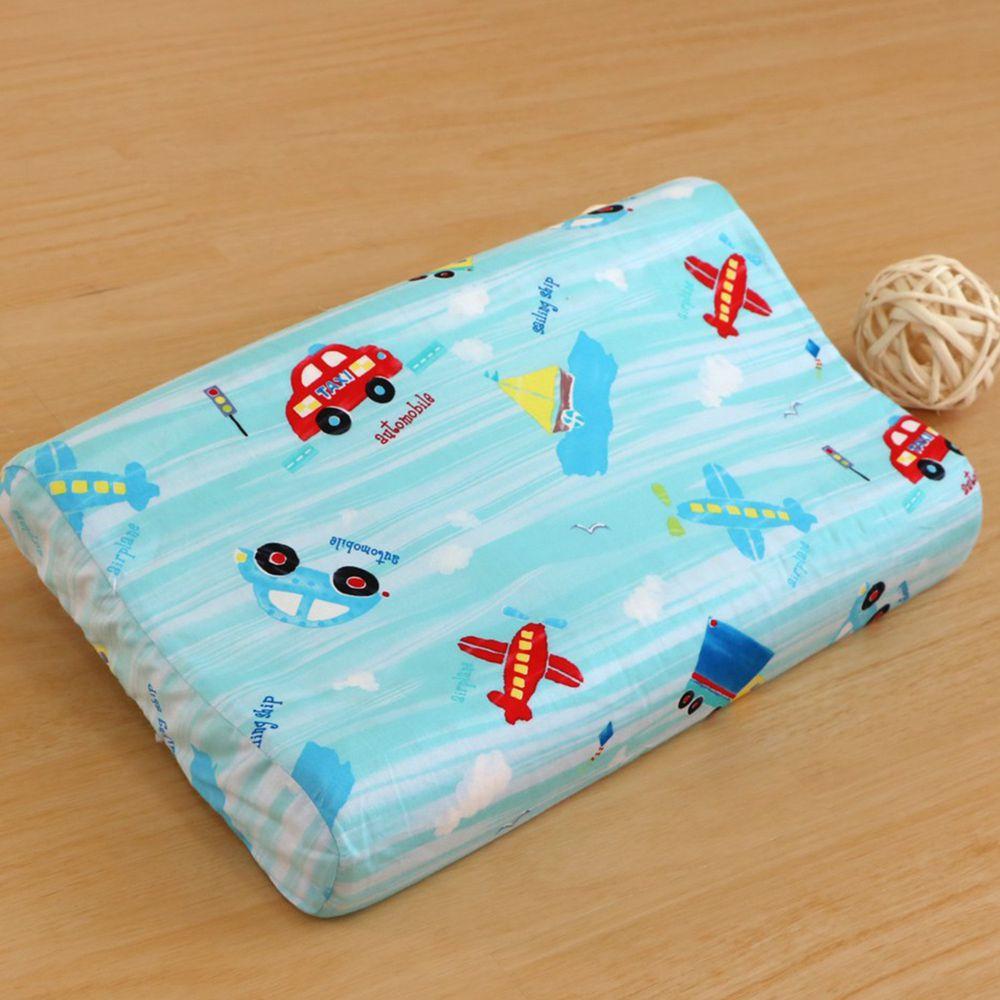 鴻宇HONGYEW - 防螨抗菌100%美國棉幼童護頸型天然乳膠枕-夢想號-1573