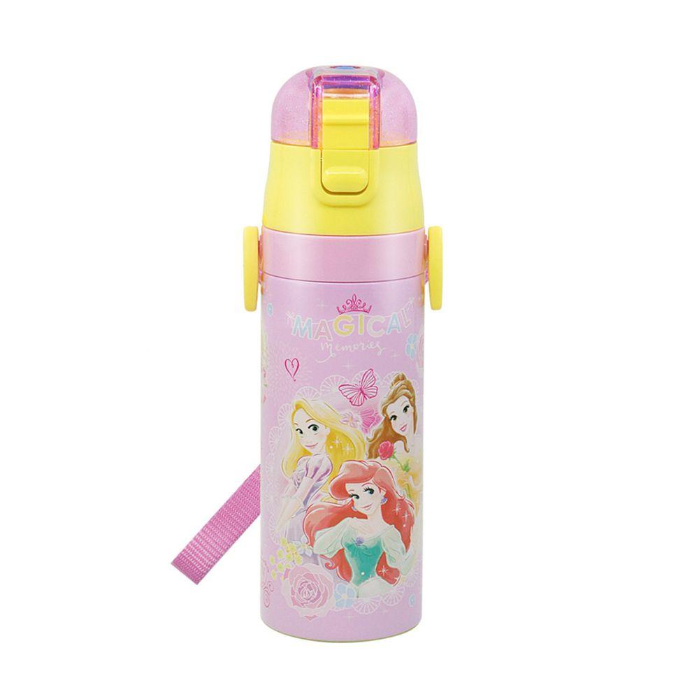 日本 SKATER - 兒童不鏽鋼直飲保溫水壺(470ml)-公主Magical