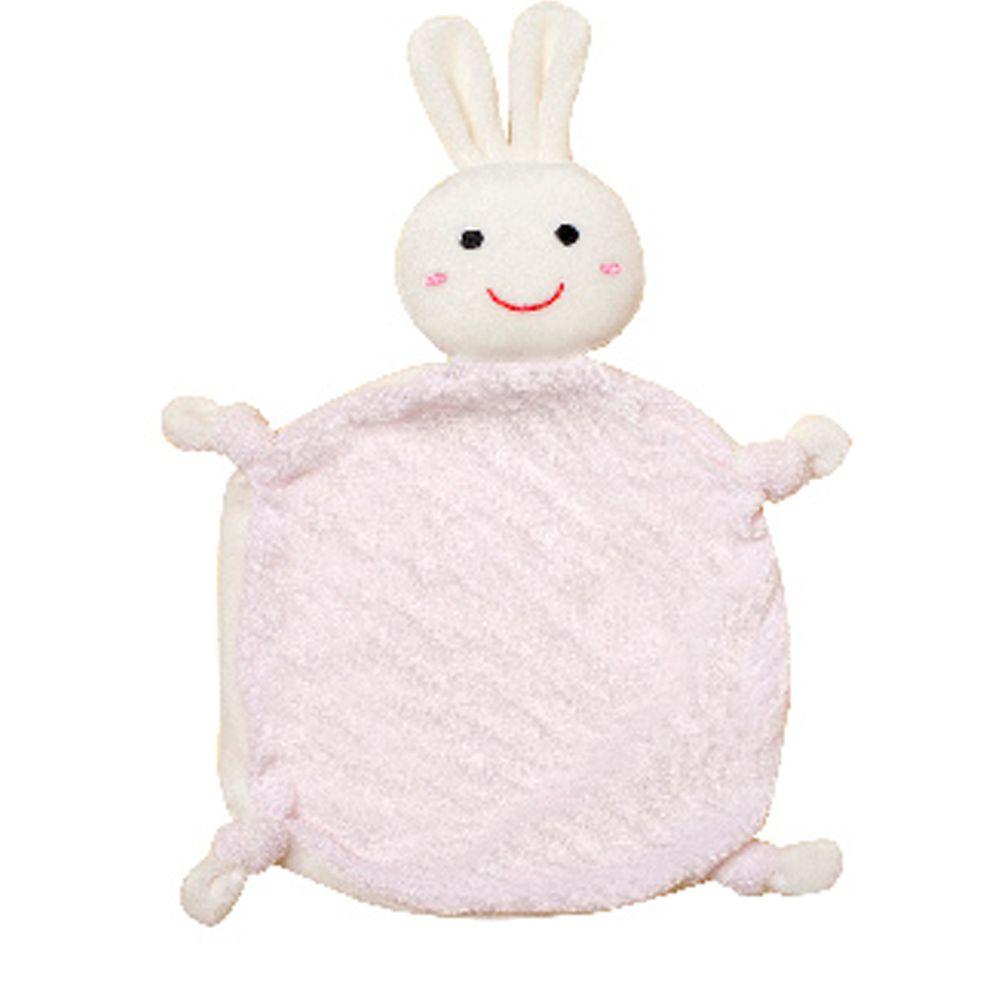 NEW STAR - 經典可愛動物嬰兒安撫巾/口水巾-活力兔-粉色 (18*18CM)