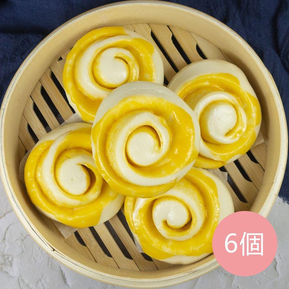 艾酷奇 - 鮮奶起司饅頭-(6入/袋)-(蛋奶素)-70g±5%