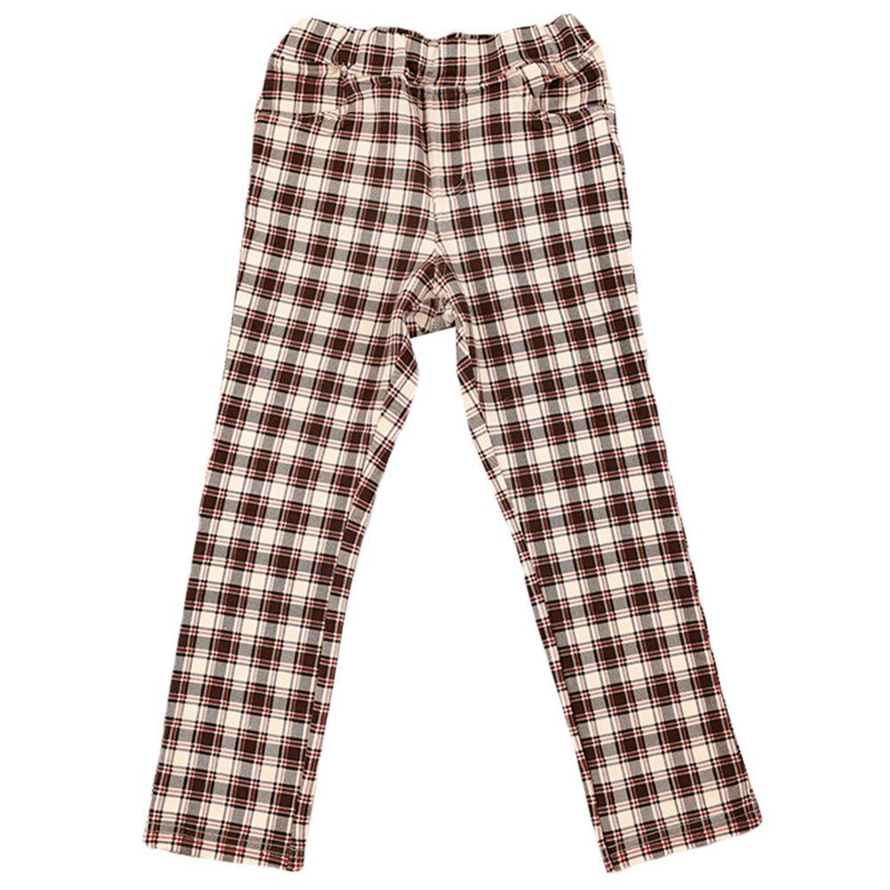 akachan honpo - 10分彈性褲-花紋-紅色