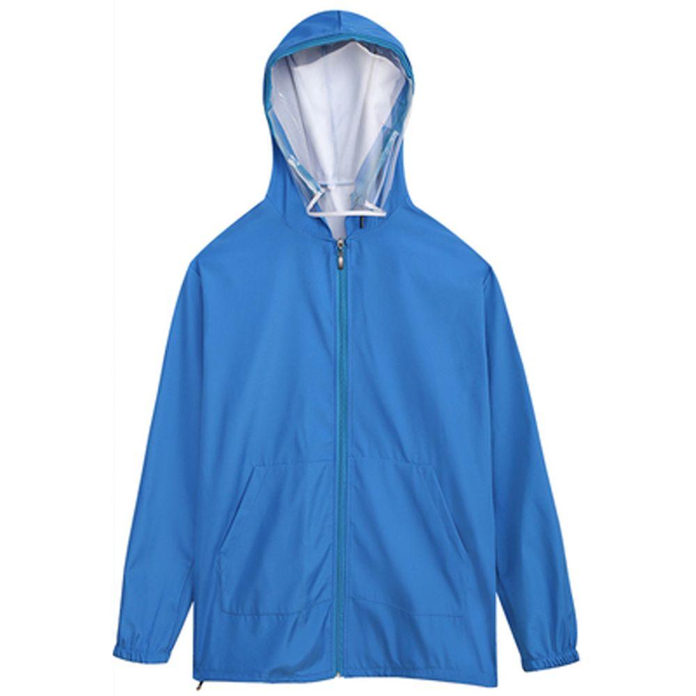 防飛沫連帽外套-一般款-藍色-(非醫療用品)