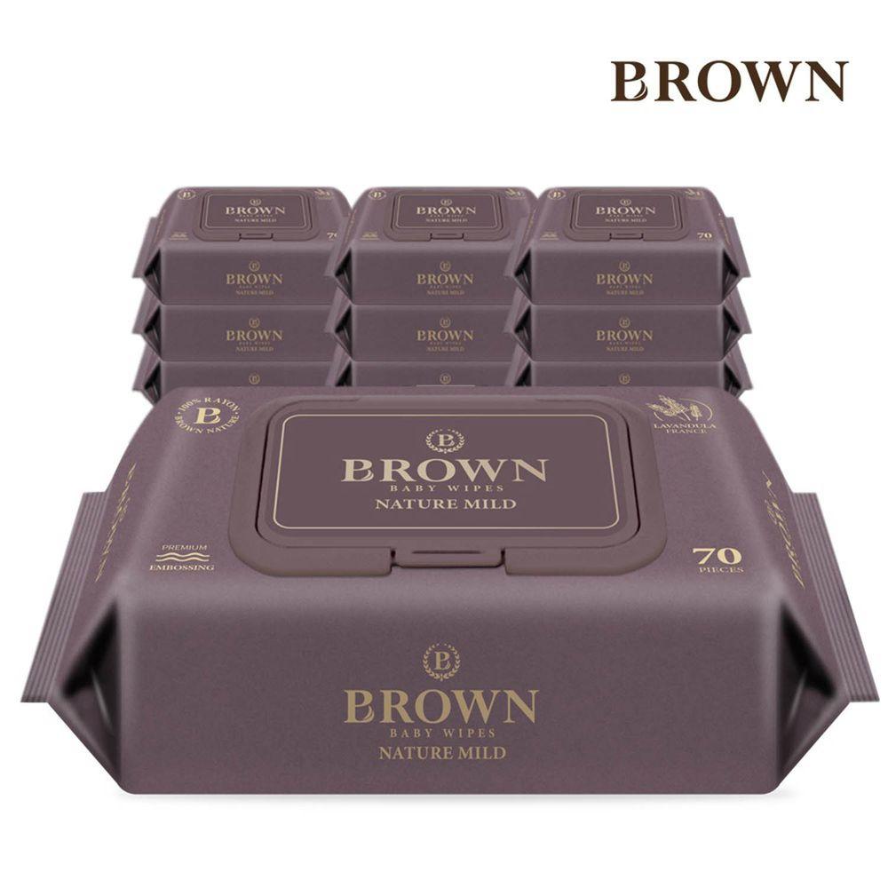 韓國BROWN - NATURE MILD 濕紙巾-薰衣草70抽(含蓋)*10包