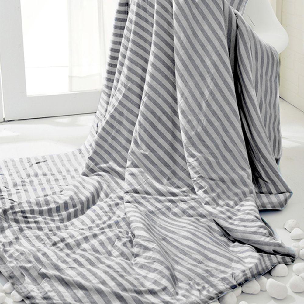 格蕾寢飾 Great Living - 義大利La Belle《斯卡線曲》色坊針織超涼感涼被-灰 (150x200cm)