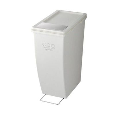 雙用造型垃圾桶-白色-21L