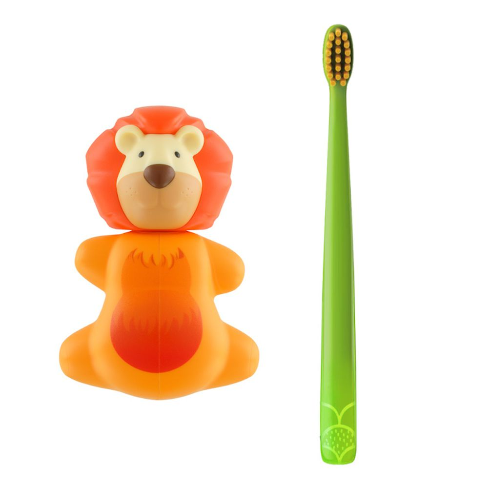 Flipper - 專利輕觸開關牙刷架(COMBO PACK)-趣味動物-獅子