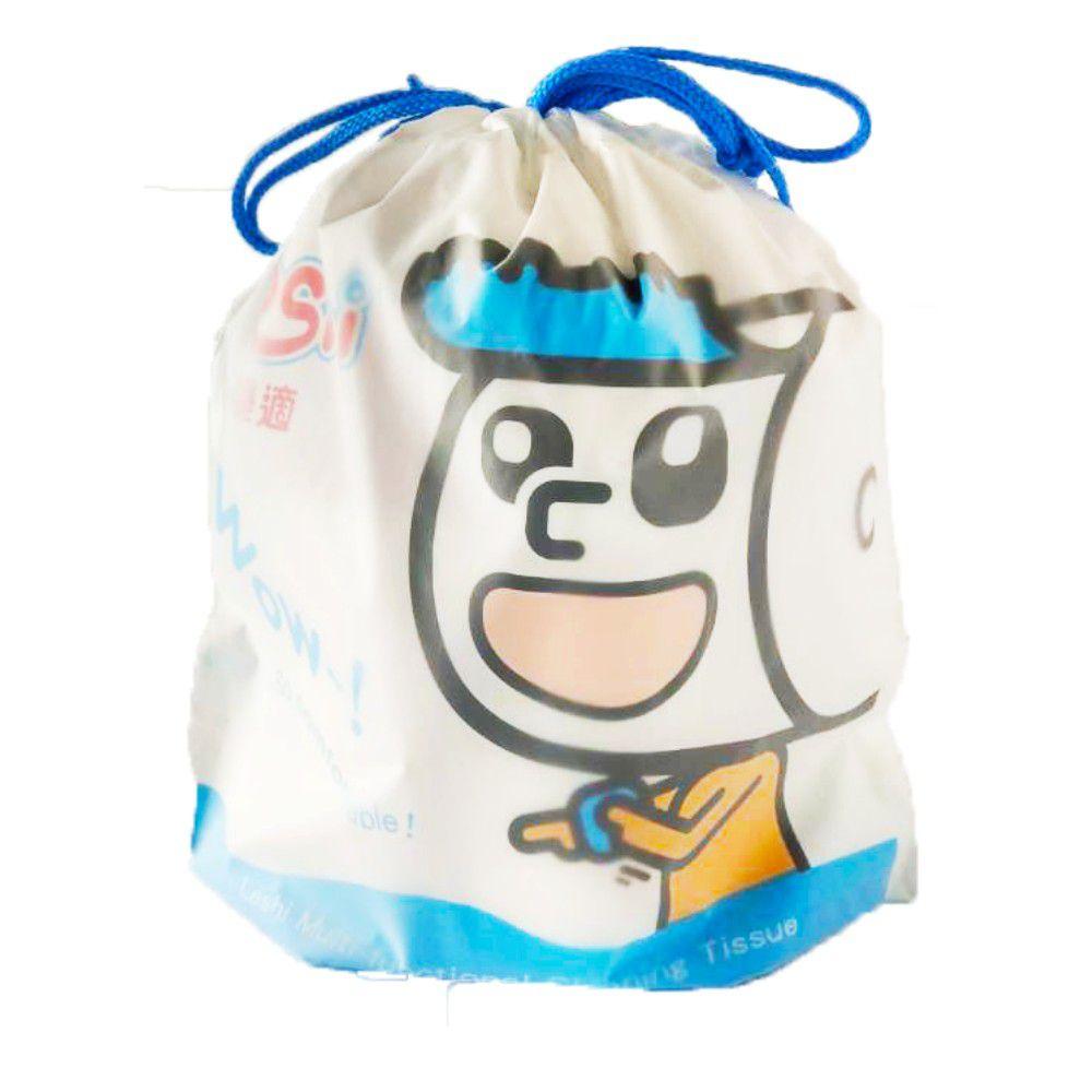 Leshi 樂適 - 嬰兒乾濕兩用布巾-束口袋款-100抽