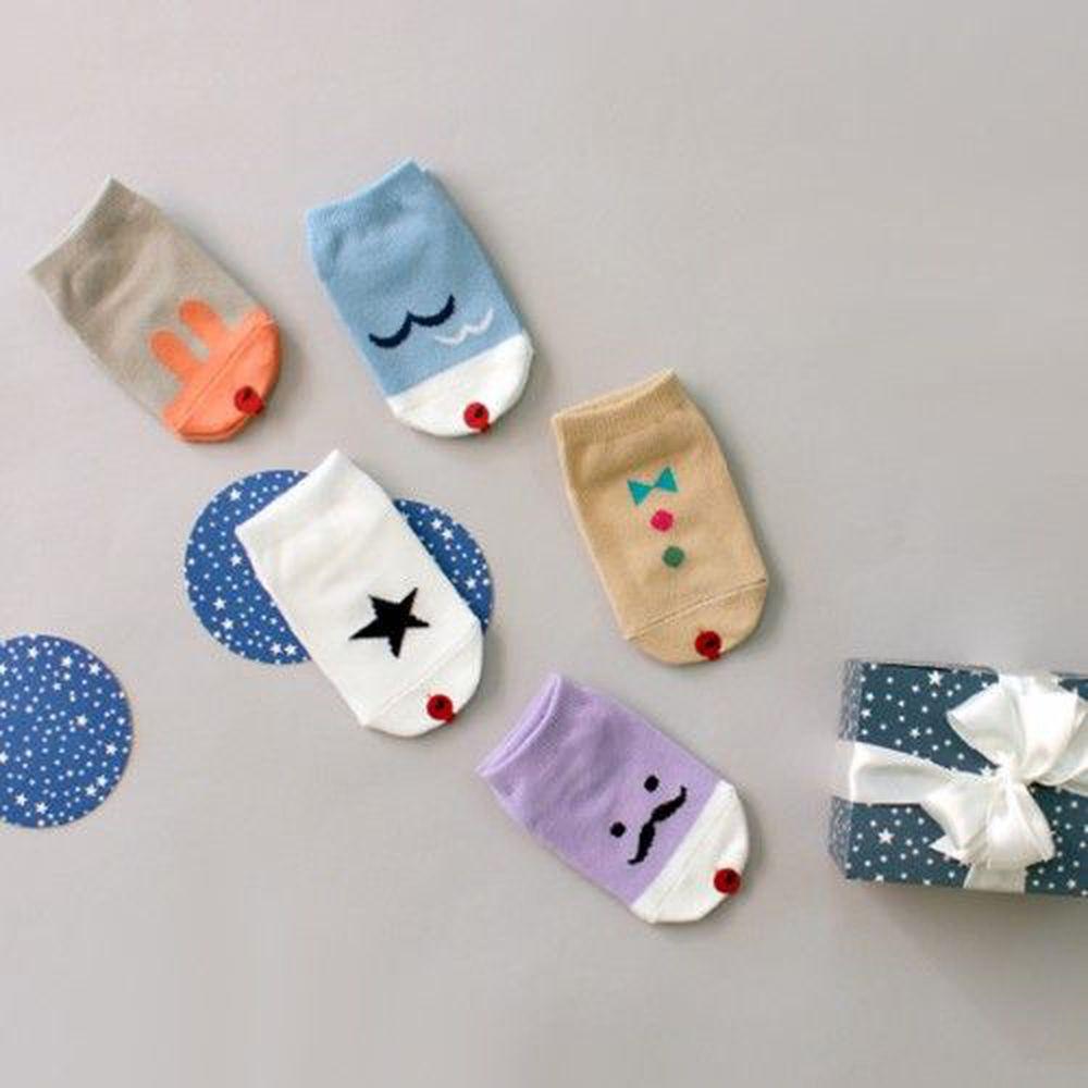 韓國 Kokacharm - 韓國製船型襪-五件組-Lalala socks
