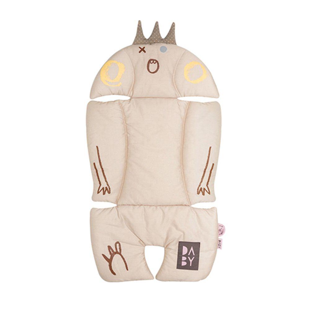 韓國Daby - 【升級版】小怪獸推車汽座兩用透氣墊-堅果Nuty(淺褐)