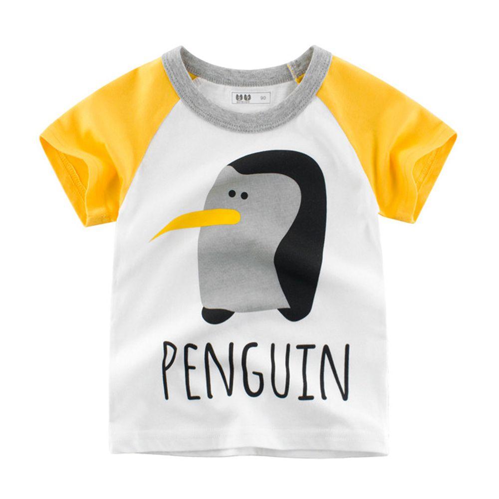 短袖棉T-企鵝-黃色