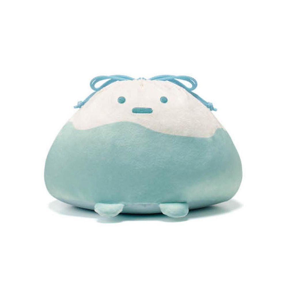 日本千趣會 - 角落生物 彈性伸縮球型束口收納袋-山-藍白 (L(最大約35x23x15cm))