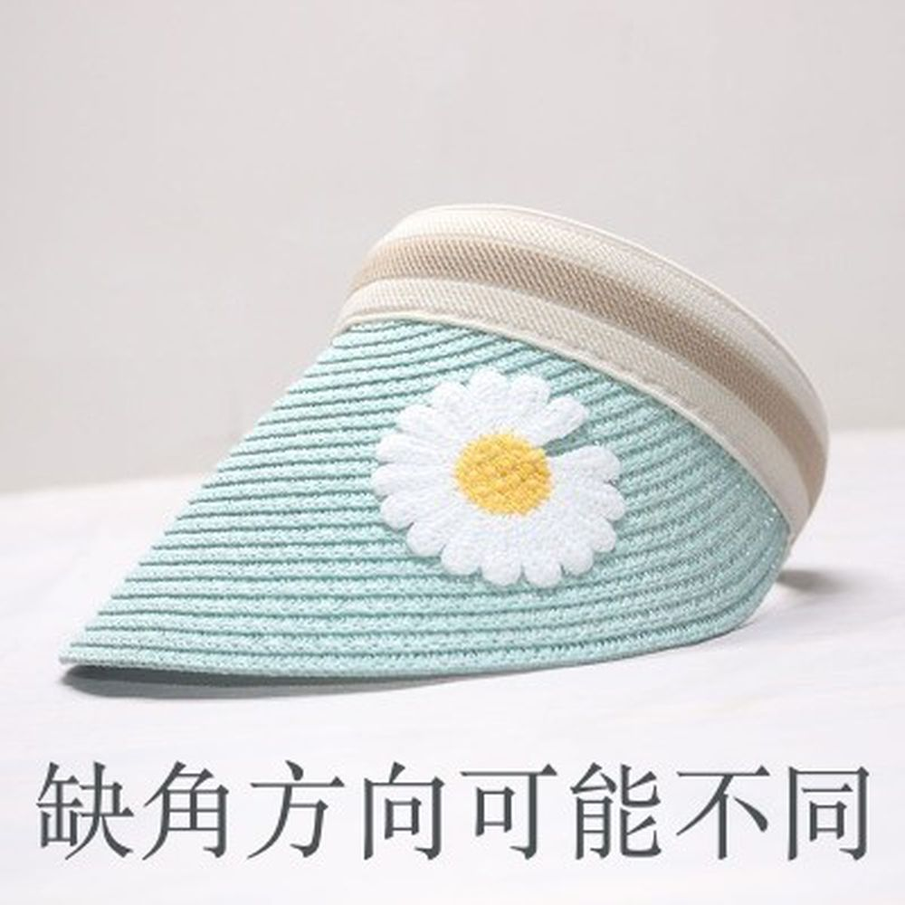 鴨舌遮陽草帽-薄荷雛菊 (小孩款(46-53cm))