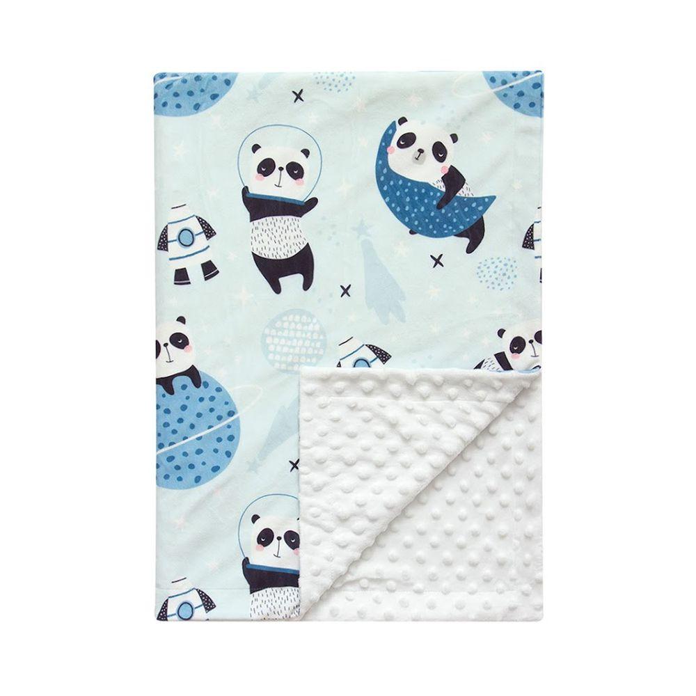 JoyNa - 雙層印花泡泡毯 嬰兒被被-熊貓 (76*84cm)