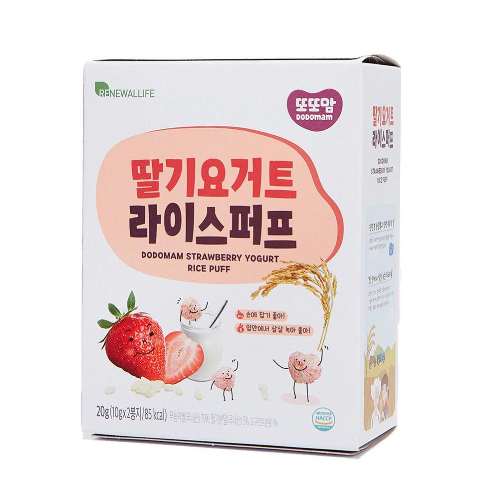 韓爸田園日記 - 米圈圈米球餅-草莓優格口味(12個月以上)-1包/20公克