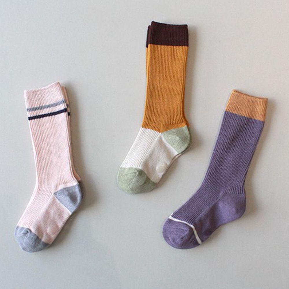 韓國 Kokacharm - 韓國製及膝襪-三件組-Land